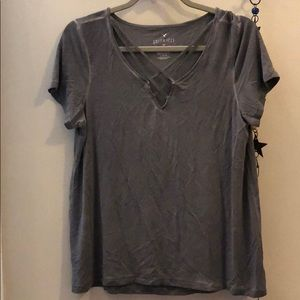 AE soft & sexy cross front shirt